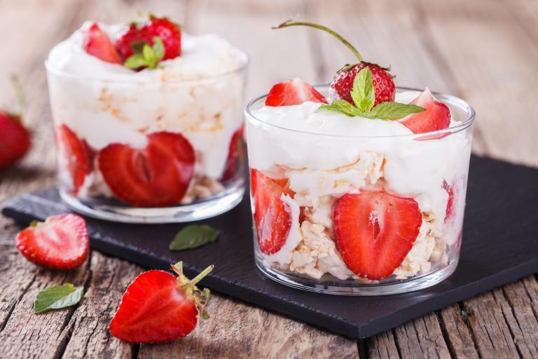 Alton's Strawberry and Basil Summer Eton Mess
