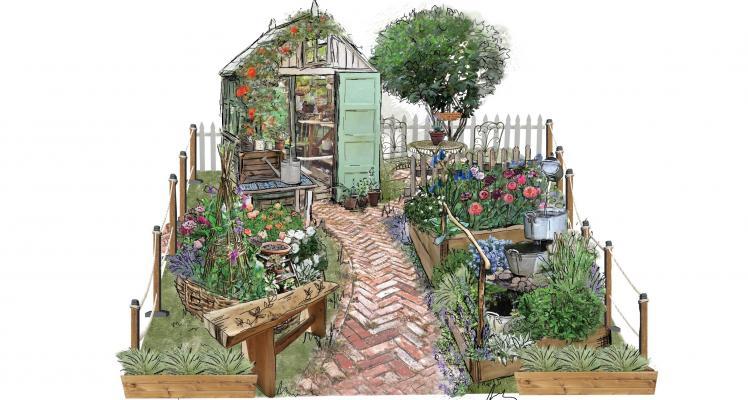 """Down Memory Lane"" Show Garden at RHS Hampton Court"