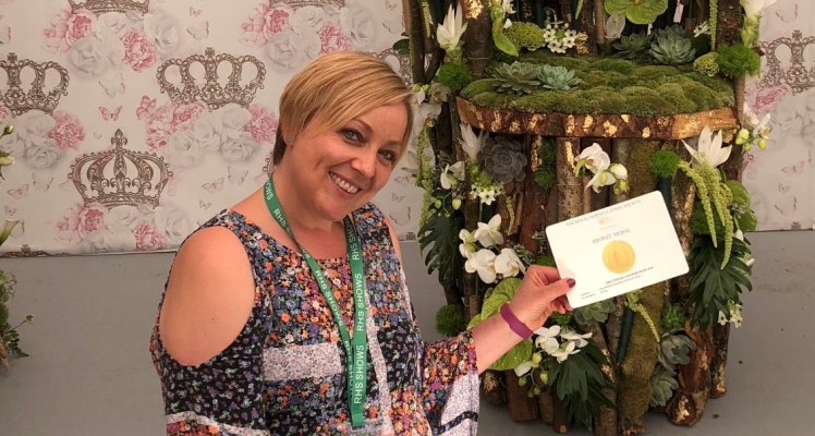 Laura picks up a bronze medal at RHS Chelsea