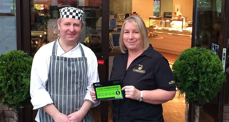 Trelawney's Carriages Restaurant Steams ahead with 5 star Food Hygiene Rating