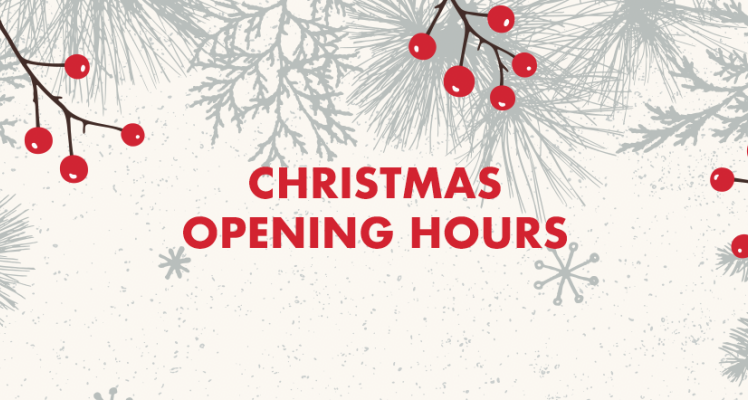Christmas Opening Hours - All Centres