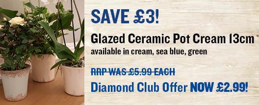 Ceramic Pot Covers 13cm