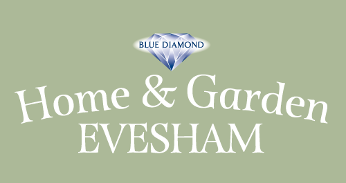 Evesham blue diamond garden centre uk guernsey jersey Homes and gardens logo